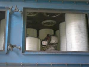 remplacement de cartouches de dépoussiéreur