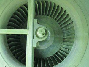 Turbine de ventilateur nettoyée manuellement