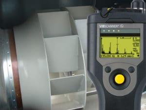 Equilibrage ventilateur avec vibscanner
