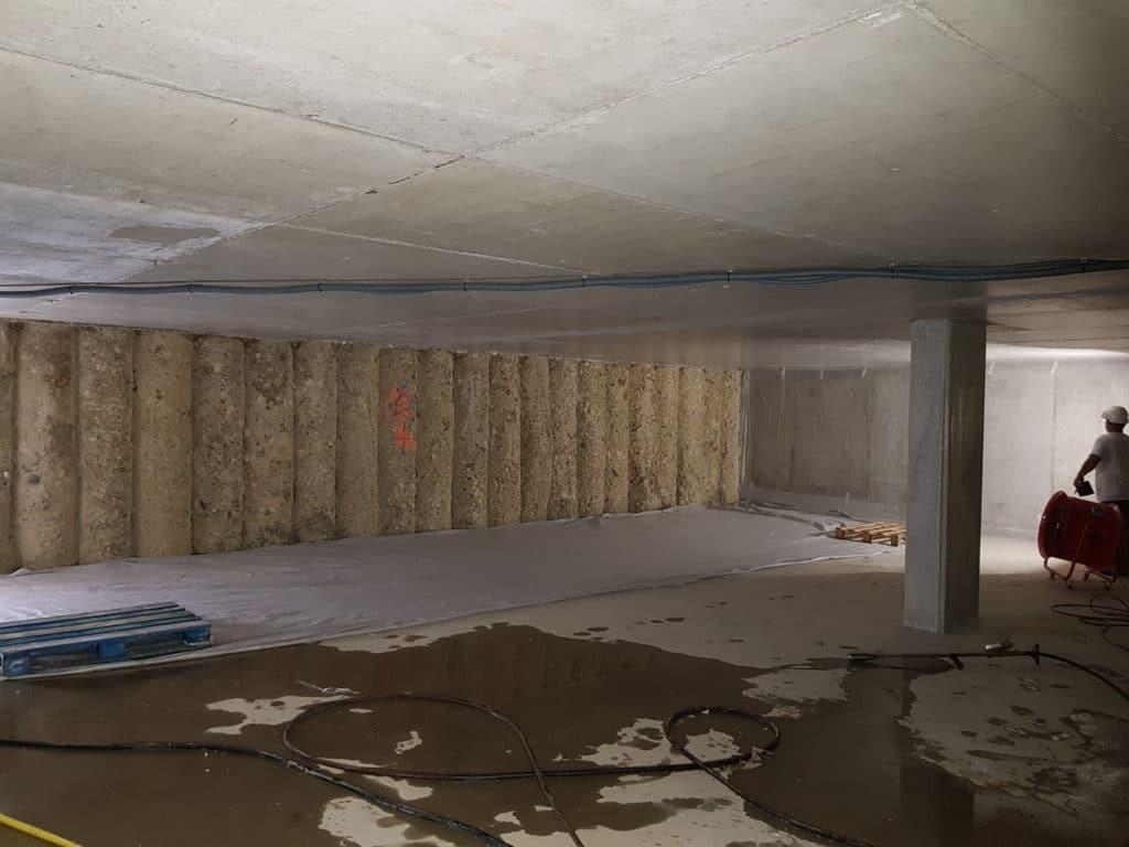 Préparation du chantier souterrain