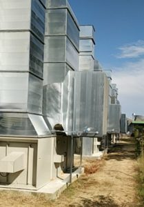 Humidificateurs mis en place au niveau des gaines d'entrée d'air